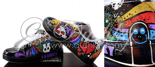 rainbow shoes by dushky