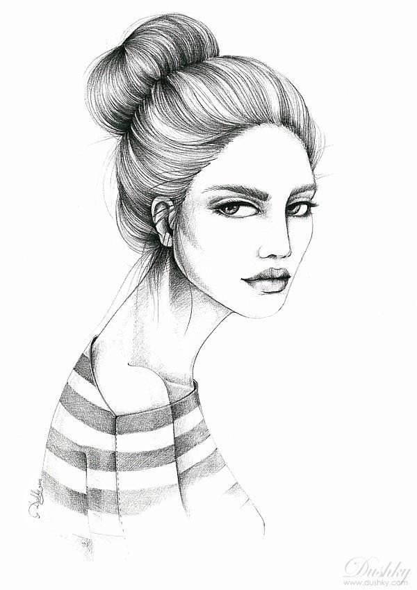 The girl in stripes