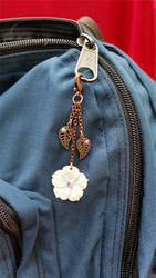 Leaf and Flower  Clasp Charm