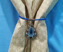 Antiqued Blues Curtain Tie-Back by 2ndWindAccessories