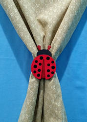 Lady Bug Curtain Tie-Back