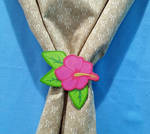 Hibiscus Curtain Tie-Back by 2ndWindAccessories