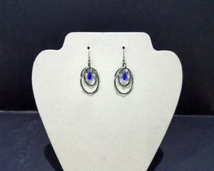 Blue Crystal earrings by 2ndWindAccessories