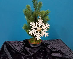Gold and White Snowflake Holiday Ornament by 2ndWindAccessories