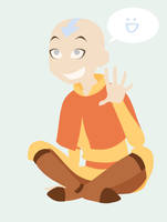 cartoony aang by Amanecer