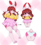 Chubby and adorable bunny [COMMISSION]