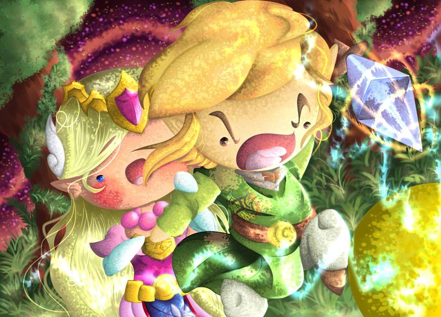 Link and Zelda VS Yellow ChuChu -Legend of Zelda