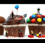 Decorating a cupcake by Fatima-AlKuwari