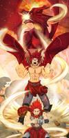 Dragon!Kirishima transformation