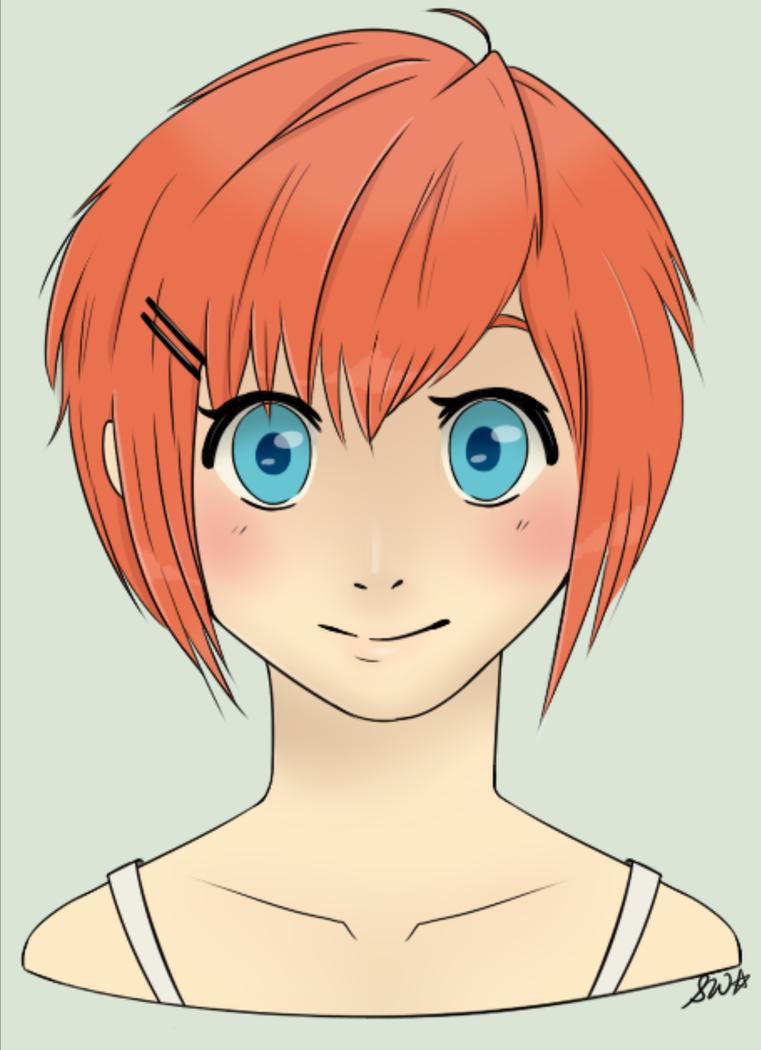 Orange Hair Beauty by Samalu17