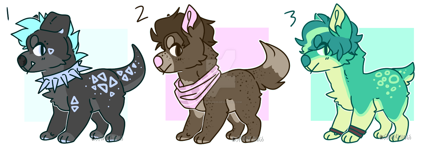 $6 Pupper adopts (2/3 OPEN - points + paypal) by spiderliings