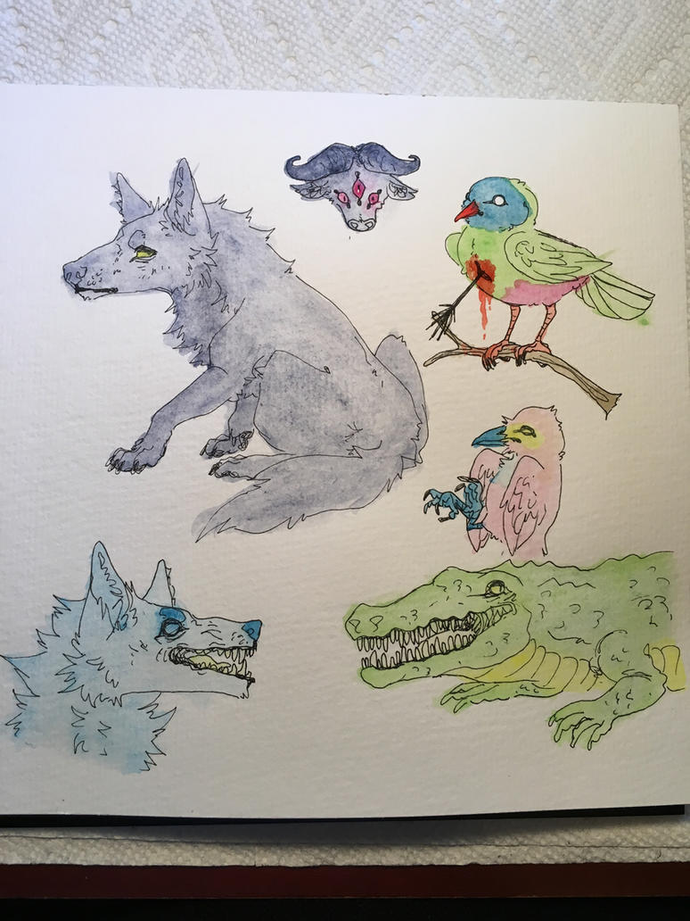 im bad at watercolor by spiderliings