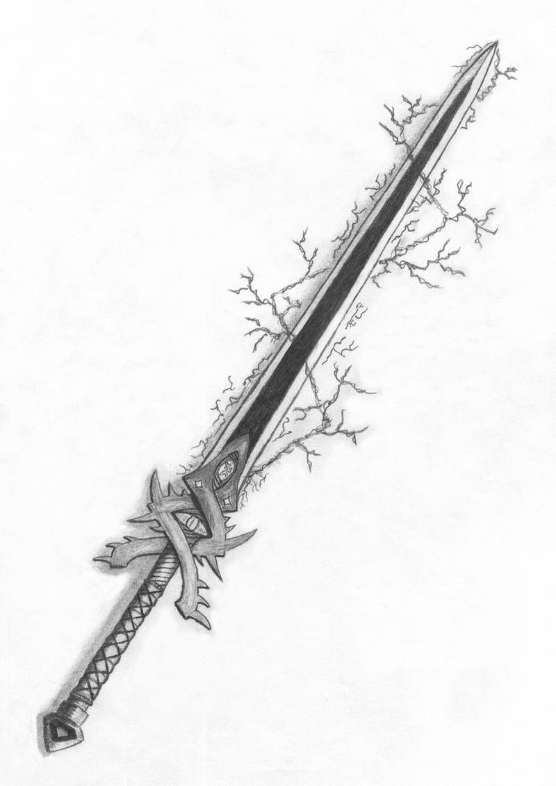 Sword by cokolwiek on deviantart for Cool fantasy drawings