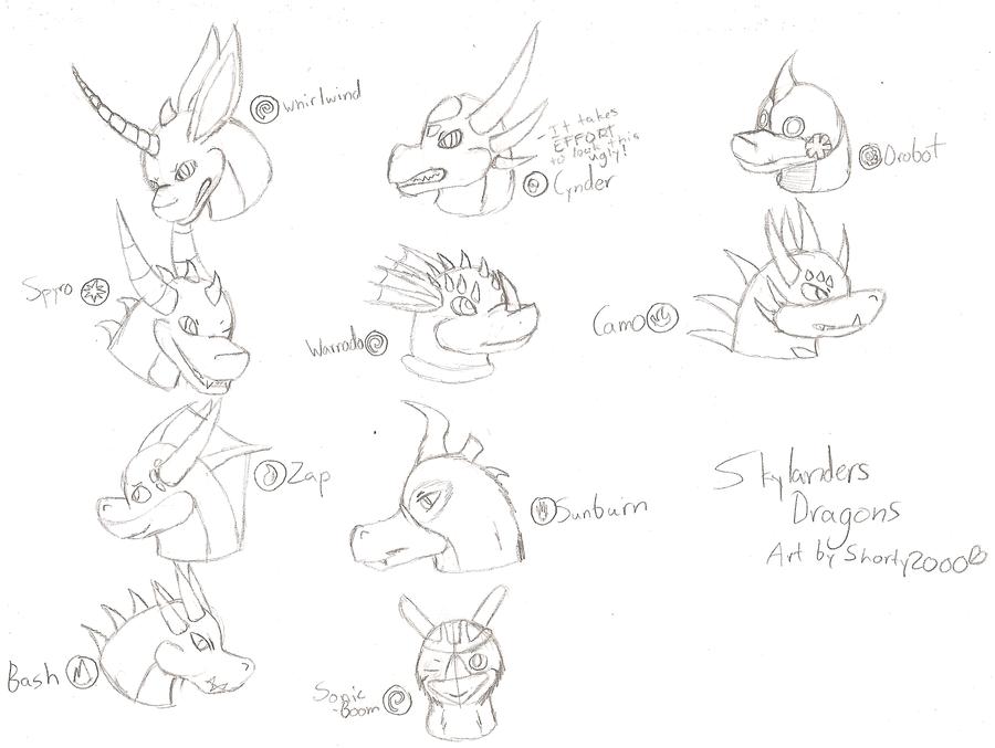 Skyland's Bravest Dragons by Shorty-Greydragon