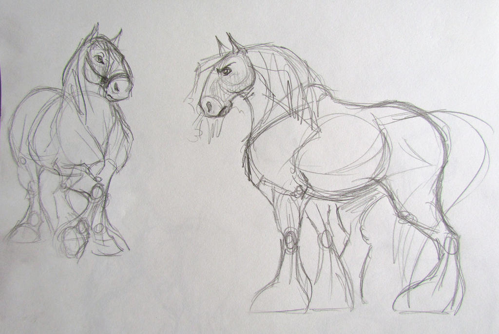 horse sketch images