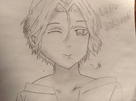 Paper drawing of laito sakamaki by yuipanda13