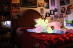 Life-size 45 Fluttershy Plushie (Made by Agatrix) by FlutterbatIsMagic