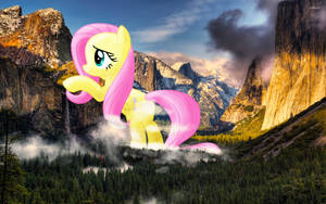 What a Beautiful Morning! - Fluttershy at Yosemite by FlutterbatIsMagic