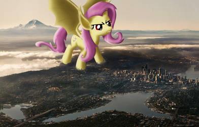 Attack of the 10,000-Foot Tall Flutterbat!