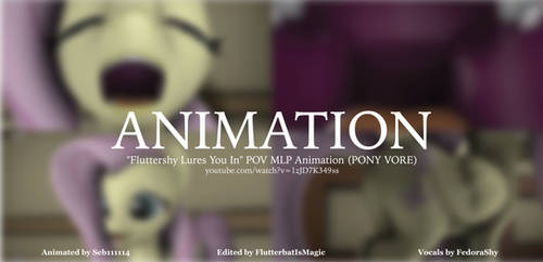 Fluttershy Vore SFM Animation (POV/3rd Person Cam)