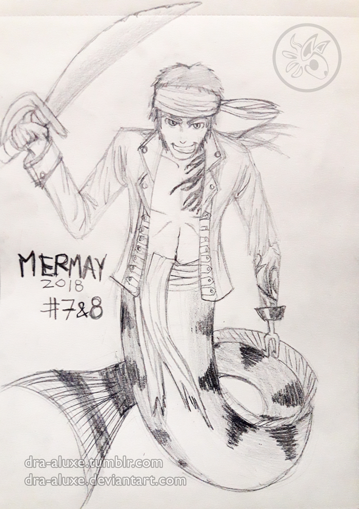 Mermay #7-8 2018 - Pirate-Masculine by Dra-Aluxe