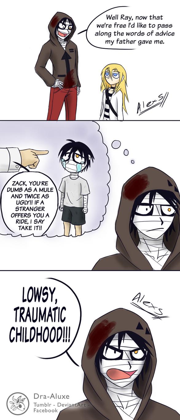 Zacks Tragic Childhood by Dra-Aluxe