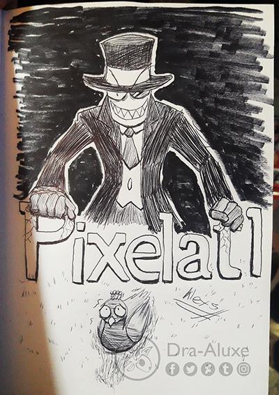 Black Hat Sketch - Pixelatl festival 2018 by Dra-Aluxe