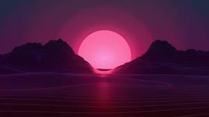 Neon Sunset 4k by AxiomDesign