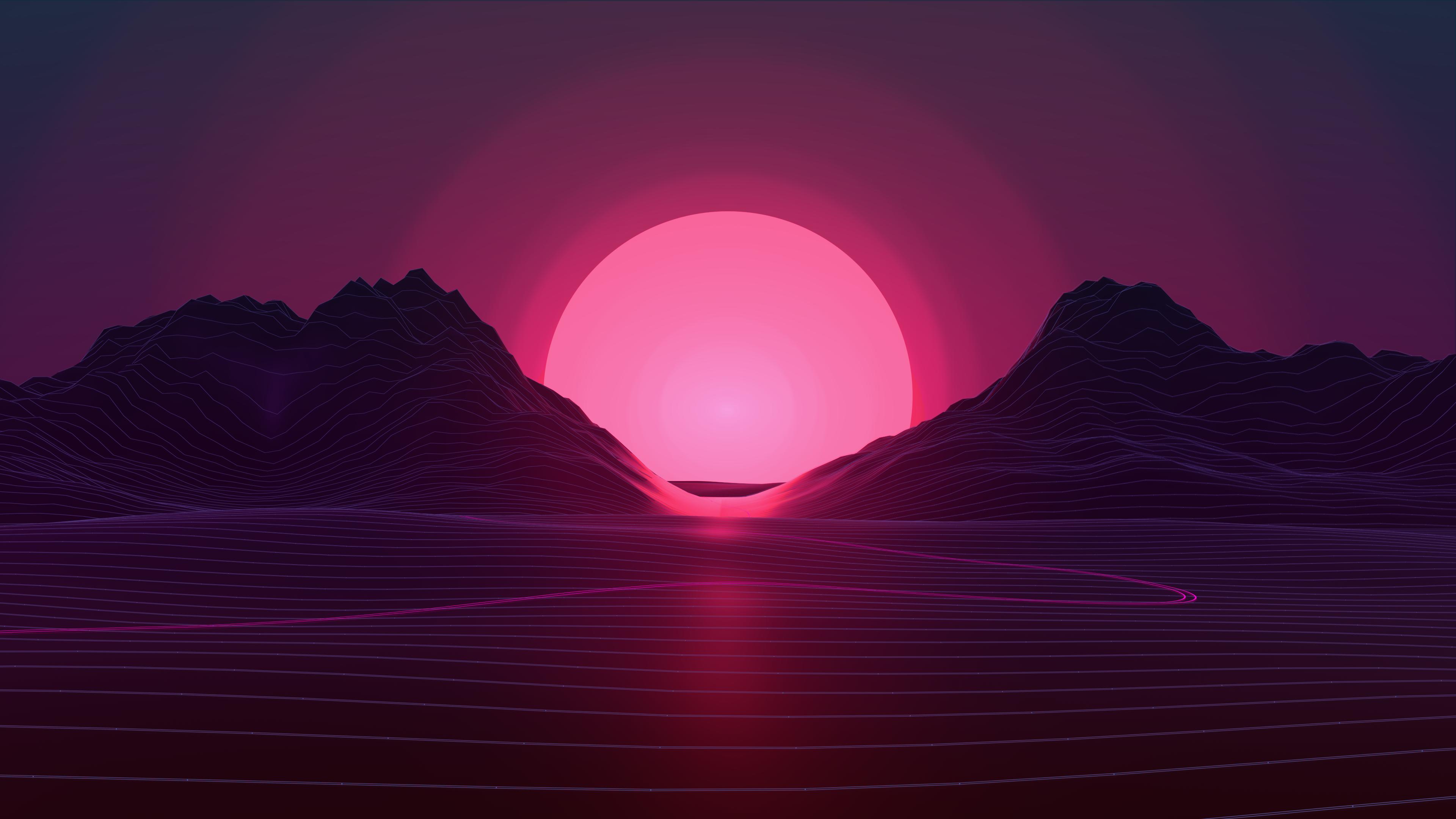 Neon Sunset 4k By Axiomdesign On Deviantart