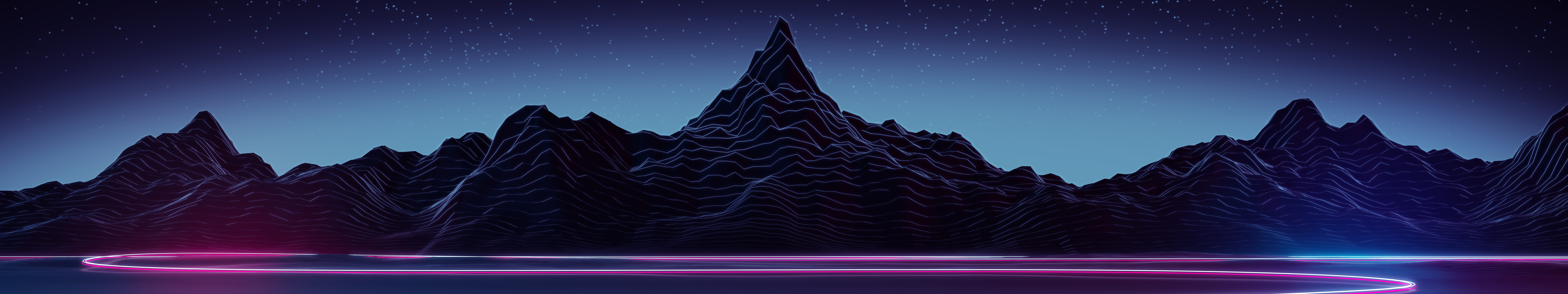 Highway (7680x1440) by AxiomDesign on