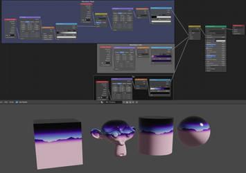 Procedural 80s Chrome (Blender) by AxiomDesign