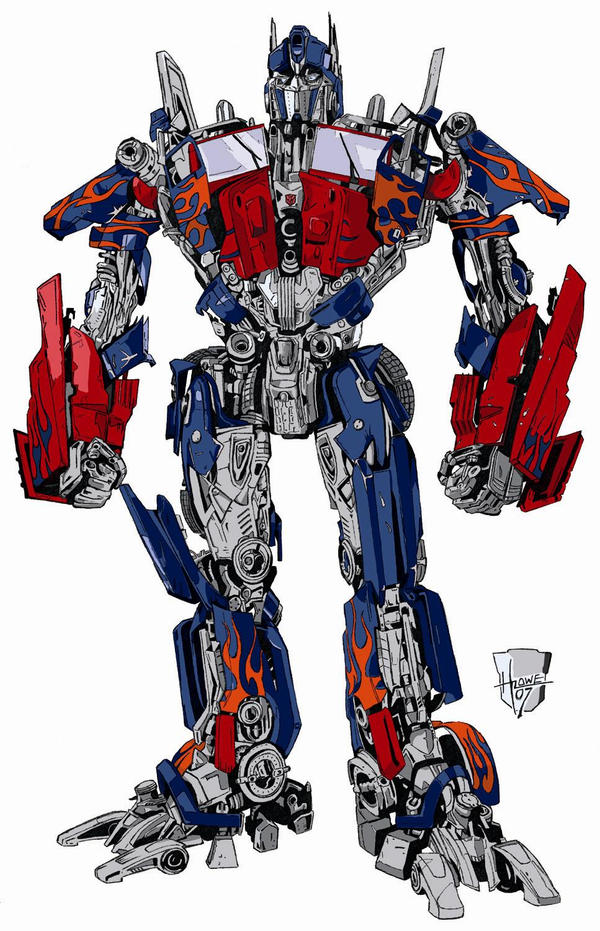Optimus Prime in Color by Ruze789 on DeviantArt