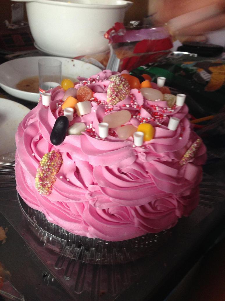 too sweet birthday cake by loxanna