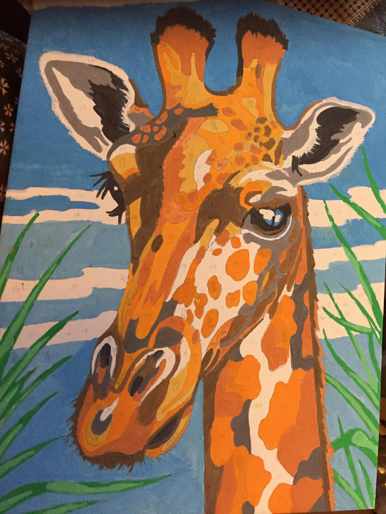 painting by numbers Giraffe by loxanna