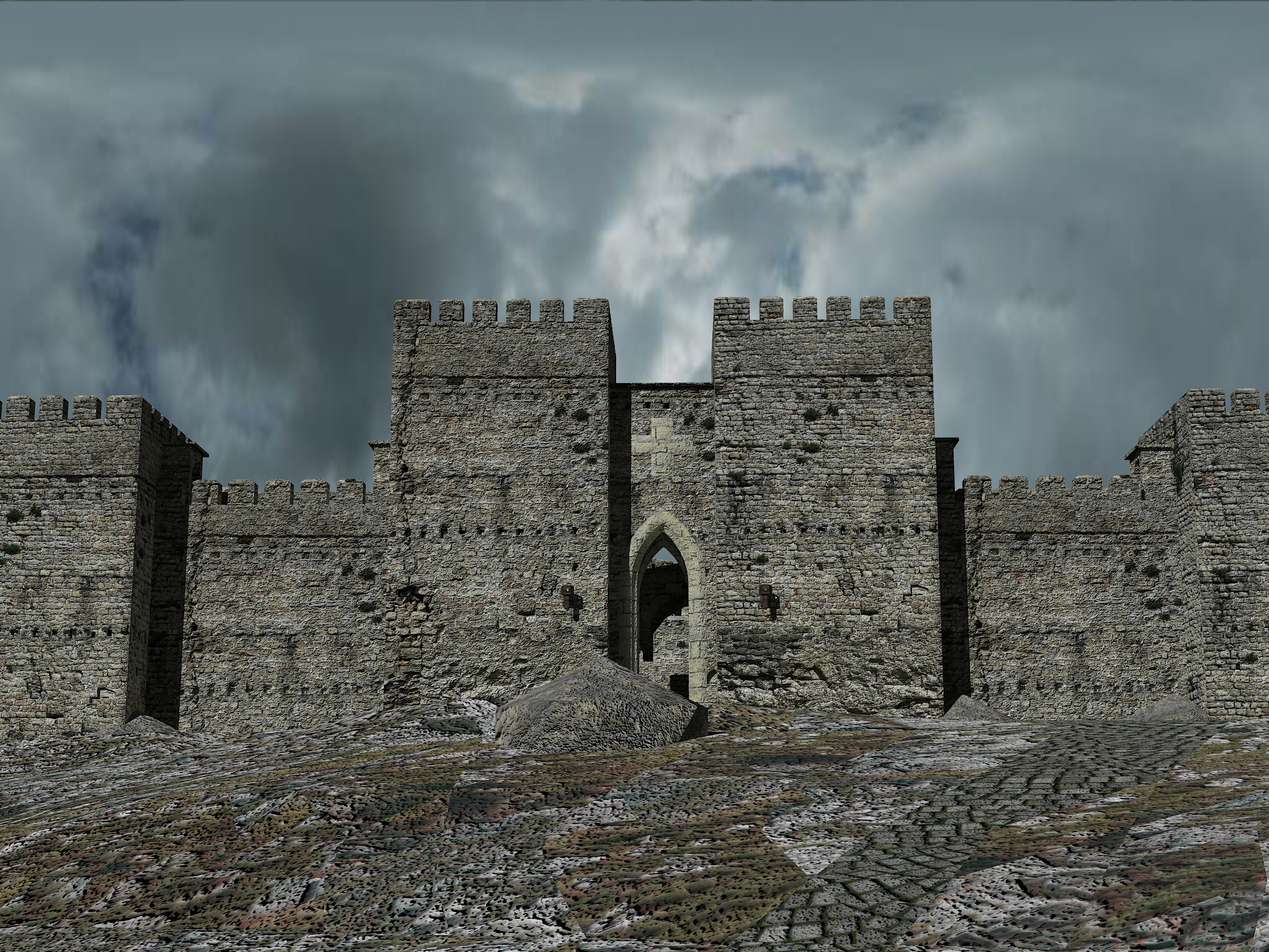 Crusader castle, approach by LordGood on DeviantArt