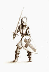 Crusader at the ready by LordGood