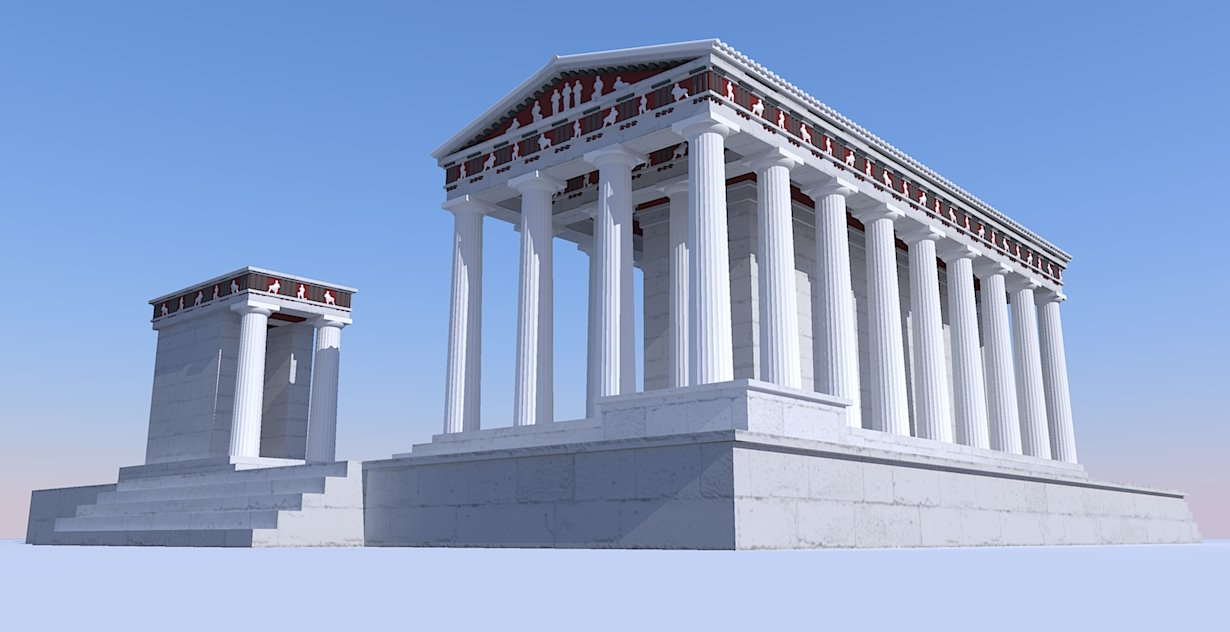 Doric temple by LordGood