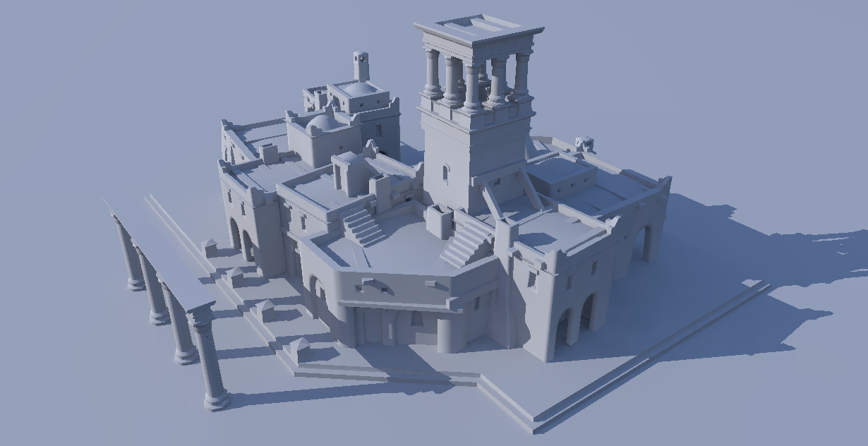 Carthaginian building cluster by LordGood