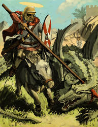 St. George and the Dragon by LordGood