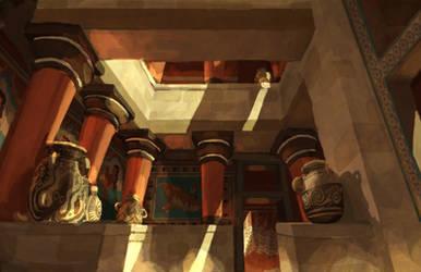 Minoan Courtyard by LordGood