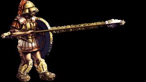 Theban sacred band hoplite by LordGood