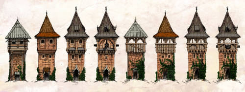 Slavic Tower concept sketches