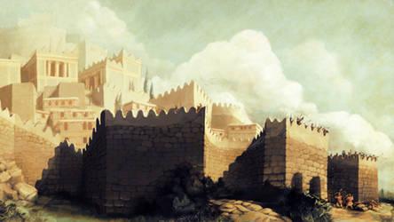 Mycenaean Citadel by LordGood