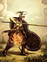 Minoan Spearman by LordGood