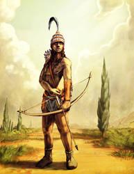 Minoan Archer by LordGood