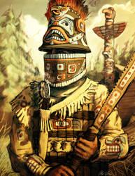 Tlingit Warrior by LordGood
