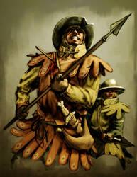 13th Century Spearman by LordGood