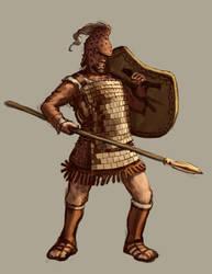 Armored Mycenaean Spearman