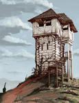 Whitewashed Tower