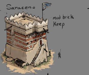Saracen Mud-brick Keep